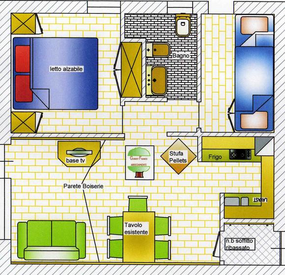 Progettazione cad 3d arredamento spazi interni su misura for Misure arredamenti interni